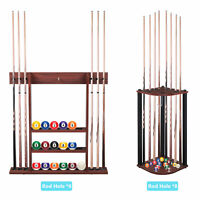Pool Cue Rack Only Stick Holder Wall Mount 6/8 Ball Holders Billiard Accessory