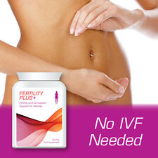 FERTILITY PLUS WOMEN'S FERTILITY & CONCEPTION SUPPORT PILLS FOR WOMEN NO IVF