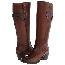 Clarks Women's Maymie Stellar Riding Boot 7 B(M) US, Cognac (Brown) Leather, New