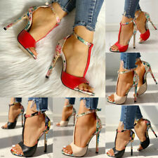 Women Ankle Strap Sandals Kitten High Heel Peep Toe Ladies Party Shoes Size 3-6
