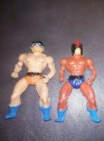 "LOT OF 2 Vintage 1980s Treasures Lost Temples Warriors 4"" Figures MOTU KO RARE!"
