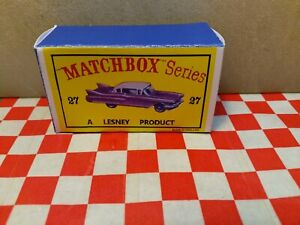 Matchbox Lesney N027 Cadillac Sixty Special EMPTY Repro Box Only NO CAR