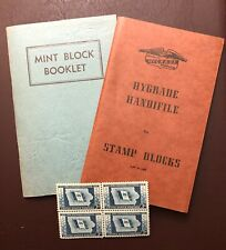 Stamp Collecting supplies - Mint block booklet and Hygerade Handfile for stamp b