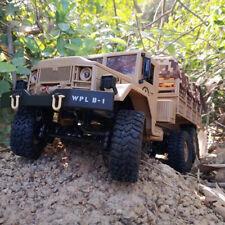 Wpl B-16 1/16 2.4G 2Ch 6Wd Military Truck Rc Off-road Crawler Army Car Usa