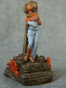 Joan of Arc. Collectible painting tin soldiers SCALE 1/32 54 mm.