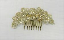 Gold Rhinestone Crystal Hair Comb Bridal Wedding Prom Special Occasion # 3452
