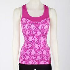 PINK SNAKESKIN EVERLAST WORKOUT YOGA TOP SHIRT LARGE SPORT BRA 36DD 38C 38D NWT