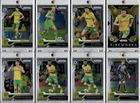 2019-20 Panini Prizm Premier League Norwich City Team Lot RC Rookie Teemu Pukki