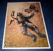 original art sketch DARTH VADER CHRIS SCALF Boba Fett is Dead 1 RRP 17x24 litho