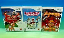 Rudolph, Santa Claus, Ninjabread Man - Nintendo Wii 3 Game Christmas Xmas Bundle