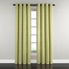 "1 WAVERLY Grantham Plaid Grommet Curtain Rod Drapery Panel Celery Green 52""x 84"""
