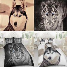 3D Animal Print Duvet Quilt Cover Bedding Set Pillow Case and 3D Throw Blanket