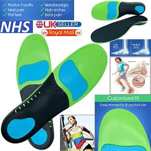Orthopedic Insoles for Arch Support Plantar Fasciitis Flat Feet Back Heel Pain