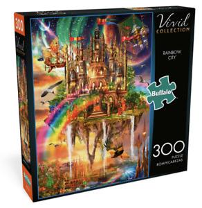 "Vivid Rainbow City 300 Large Piece Jigsaw Puzzle Aimee Stewart 21.25"" x 15"""