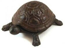 Hidden Spare Key Holder Cast Iron Rustic Garden Yard Turtle Clever Compartment