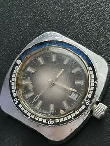 GENTS VINTAGE NINLT DIVERS WATCH 25 RUBIS 38.5MM FACE WO/CROWN AUTOMATIC WORKING