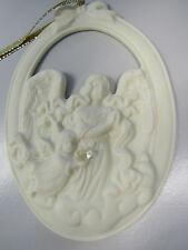 Partylite Angel Of Hope W/ Dove Bisque Tree Hanging Ornament Decoration 2002