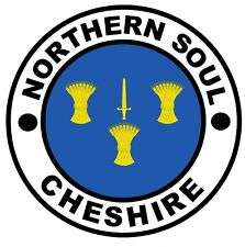 NORTHERN SOUL CHESHIRE - CAR / WINDOW / STICKER / DECAL + 1 FREE / NEW / GIFTS
