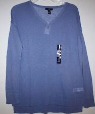 Gap NWT Women's S Hyacinth Blue Linen Cotton V Neck Sweater