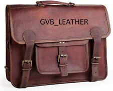 """18"""" Men's Genuine Classy Leather Messenger Mackbook Shoulder Laptop Bag computer"""