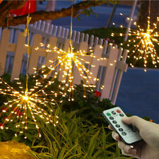 180LED Christmas Waterproof Firework Copper Wire String Lights Remote Control US