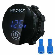 12v 24v Car Marine Motorcycle Touch Led Digital Voltmeter Voltage Meter Battery
