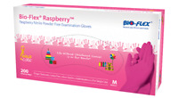 Bio-Flex® Raspberry™ NITRILE GLOVES Examination Box of 200 Gloves PCS PINK
