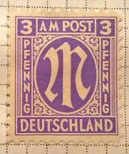 Germany stamps - Allied Military 'M' in Circle  1945 3 German reichspfennig