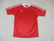 VINTAGE Adidas Soccer Jersey Adult Medium Red White Futbol Football Men A1*