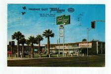 AZ Phoenix Arizona 1962 post card East Travelodge on Van Buren