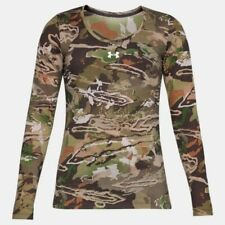 Nwt Under Armour UA Threadborne Womens Hunting Forest Camo Shirt Long Sleeve
