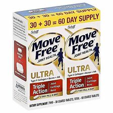 LOWEST PRICE Move Free Ultra Triple Action Joint Supplement Twin Pack (2x30) Ct.