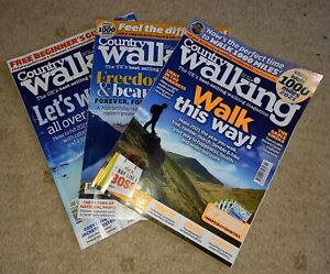 Country Walking magazines January, February & March 2021