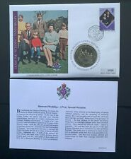 Cook Islands, 2007 Queen's Diamond Wedding Anniversary 1 Dollar Unc. Coin Cover