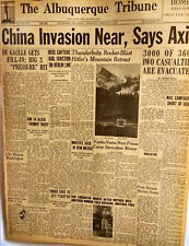 1945 Vintage Newspaper-China Invasion-Axis-Yanks-Nazi Prison-WAC-Hitler-Retreat