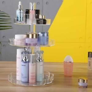 360 Rotating Makeup Organiser Case Cosmetic Storage Box Perfume Display Stand