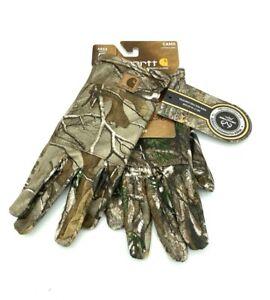 Carhartt Realtree Xtra Camo Hand Warmer Pocket Lightweight Liner Gloves Sz L