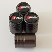 AUDI R8 RS Titanium Grey valve Tyre Dust Caps Plastic Inside all models S LINE