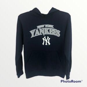 Stitches New York YANKEES Boy's Hoodie Sweatshirt Sz Medium (14-16) Navy Blue