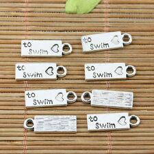 24pcs tibetan silver plated to swim charms EF2227