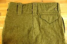 "Excellent Condition WWII Green Wool Battlefield Service Trouser Pants 34""-36"""