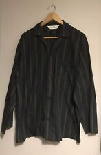 """Mens Black And White Striped Shirt F&F Size 15"""" collar, 38"""" chest <TB255"""