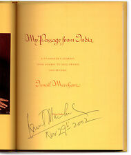 My Passage From India - Signed + Date by Ismail Merchant - 1st Edition Hardcover