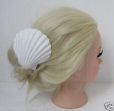 Real Sea Shell Hair Clip Beach Bridal Mermaid Boho White Festival Wedding g68