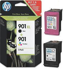 2 HP 901 original tinta cartucho officejet j4580 j4600 j4624 j4660 j4680c sd519a...