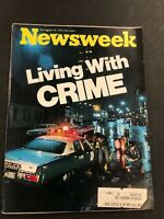 Newsweek Magazine Living With Crime December 18, 1972