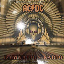"AC DC ""DAMNATION RADIO"" IN CONCERT 1978 LTD EDT GOLD VINYL LP  - NEW / SEALED"