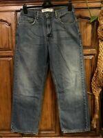 Levi's 569's jeans Loose Straight leg Distressed Faded Hippie Boho Denim  32x30