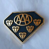 AAA Five Diamond Award Pin Diamond Shaped Black With Gold Color Embellishments