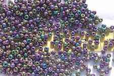 7/0 Special Size Purple Iris Czech Glass Seed Beads Loose 1oz